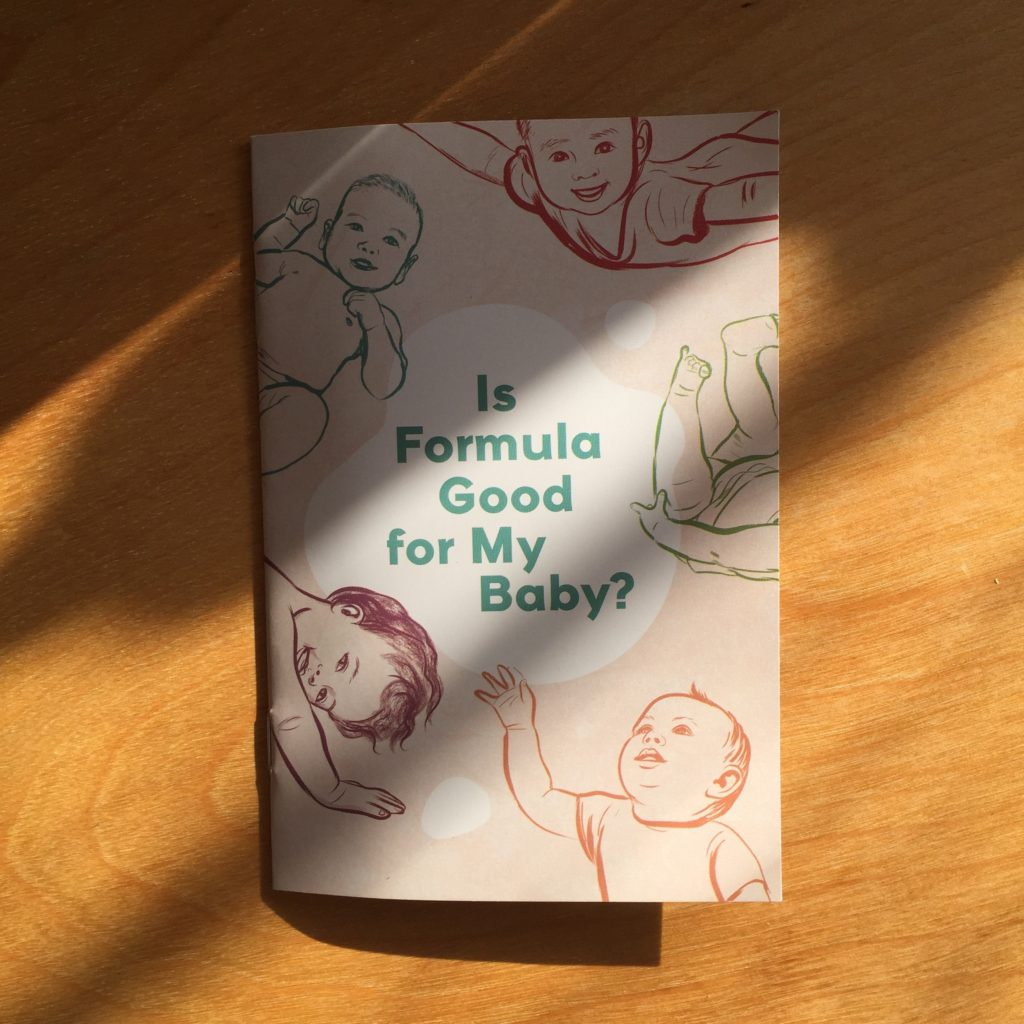 "Photo: Cover of ""Is Formula Good for my Baby?"" — an infant feeding resource for HIV positive parents. The resource was designed with CATIE, Women's College Hospital, The Teresa Group as well as HIV positive mothers."